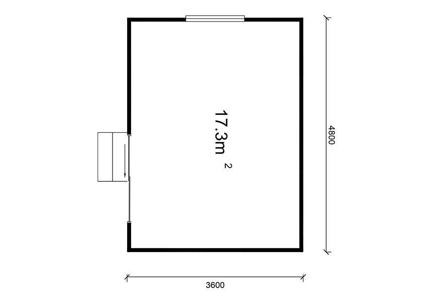 4.8m X 3.6m Sleepout for sale plans
