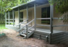 9.0m X 5.0m One Bedroom Granny Flat with Grey Verandah